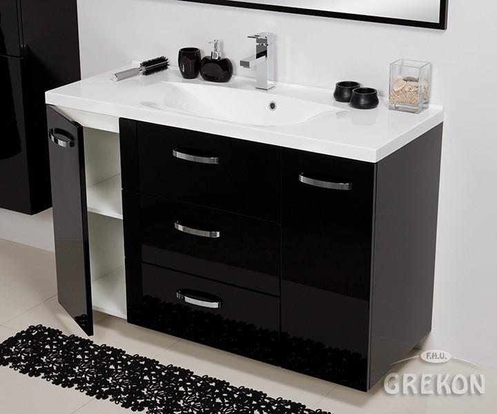 Zupełnie nowe Czarna szafka łazienkowa z umywalką 120/48/C Jona Gante sklep SB33